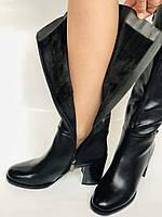 Женские осенне-весенние сапоги на среднем каблуке. Натуральная кожа. Люкс качество. Molka. Р. 37.38.39, фото 8