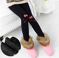 """Чорні лосини на хутрі """"Hello Kitty"""", фото 1"""