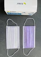 Медицинские маски фиолетовые 50 шт/уп