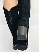 Натуральне хутро.Зимові чоботи на середньому каблуці. Натуральний замш. Люкс якість. Blue Tempt . Р. 35.37.38.39, фото 10