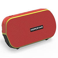 Bluetooth-колонка HOPESTAR-T6 MINI, StrongPower, c функцией speakerphone, радио, PowerBank, red
