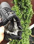 Чоловічі зимові кросівки Nike Huarache (чорно-помаранчеві) 9969, фото 2