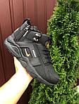Чоловічі зимові кросівки Nike Huarache (чорно-помаранчеві) 9969, фото 3
