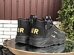 Чоловічі зимові кросівки Nike Huarache (чорно-помаранчеві) 9969, фото 4