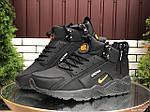 Чоловічі зимові кросівки Nike Huarache (чорно-помаранчеві) 9969, фото 5