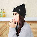Теплая вязаная шапка, фото 2