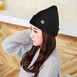Теплая вязаная шапка, фото 3