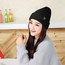 Теплая вязаная шапка, фото 4