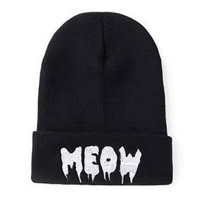 Стильна модна шапка meow