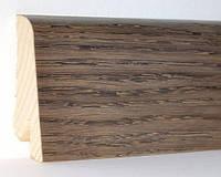 """Шпонированный плинтус """"Kluchuk"""", коллекция Евро, Дуб Базальт, арт. KLE60-15"""