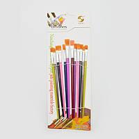 """Набор кистей для рисования """"Primrose"""" синтетика, в наборе 12шт, ручка пластик, кисть, художественные кисти,"""