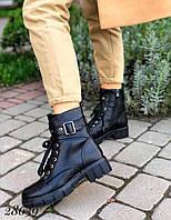Зимние женские ботинки кожа 36-41 р