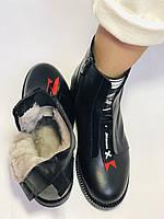 Evromoda Турция зимние ботинки на натуральном меху из натуральной кожи.  Р 37.38.40., фото 10