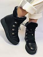 Mario Muzi. Турецкие зимние ботинки на натуральном меху из натуральной кожи,  Р.36.37.38., фото 4