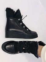 Mario Muzi. Турецкие зимние ботинки на натуральном меху из натуральной кожи,  Р.36.37.38., фото 7
