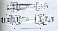 Вал с широкоугольным шарниром и обгонной муфтой