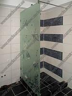 Стеклянные душевые перегородки из одного стекла (без двери), фото 1