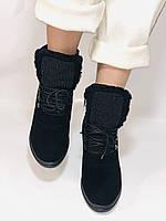 Зимові черевики натуральне хутро, натуральна замша. Прихована танкетка. Р. 38,39.Vistally., фото 5