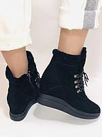 Зимові черевики натуральне хутро, натуральна замша. Прихована танкетка. Р. 38,39.Vistally., фото 3