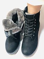 Mario Muzi.Туреччина натуральне хутро, нубук. Зимові черевики Р. 38,40., фото 10