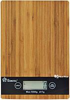 Электронные кухонные деревянные весы на 5 кг Domotec MS-A (4671)