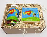 """Набор для влюбленных """"Любовь всерьез"""": жвачки """"Лав из"""" в баночке, упаковка печений с предсказаниями """"Love is"""", фото 3"""