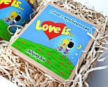 """Набор для влюбленных """"Любовь всерьез"""": жвачки """"Лав из"""" в баночке, упаковка печений с предсказаниями """"Love is"""", фото 5"""