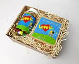 """Набор для влюбленных """"Любовь всерьез"""": жвачки """"Лав из"""" в баночке, упаковка печений с предсказаниями """"Love is"""", фото 10"""