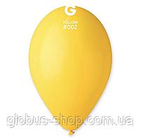 Шары латексные 10', желтый, пастель