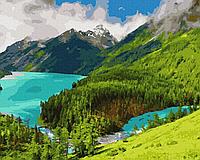 "Картина за номерами. Rainbow Art ""Ранок у горах"" GX36148-RA"