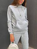 Теплый женский спортивный костюм с капюшоном 13-222, фото 5