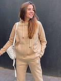 Теплый женский спортивный костюм с капюшоном 13-222, фото 7