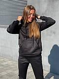Теплый женский спортивный костюм с капюшоном 13-222, фото 8