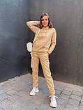 Теплый женский спортивный костюм с капюшоном 13-222, фото 4