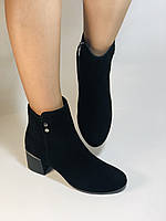 Женские осенние ботинки. На среднем каблуке. Натуральный замш. Высокое качество Blue Tempt. Р. 35-39.Vellena, фото 4