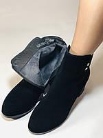 Женские осенние ботинки. На среднем каблуке. Натуральный замш. Высокое качество Blue Tempt. Р. 35-39.Vellena, фото 8