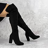 Женские ботфорты на каблуке Fashion Caitlyn 1427 38 размер 24,5 см Черный, фото 2