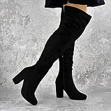 Женские ботфорты на каблуке Fashion Caitlyn 1427 38 размер 24,5 см Черный, фото 3