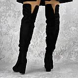Женские ботфорты на каблуке Fashion Caitlyn 1427 38 размер 24,5 см Черный, фото 5
