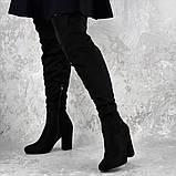 Женские ботфорты на каблуке Fashion Caitlyn 1427 38 размер 24,5 см Черный, фото 7