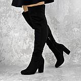 Женские ботфорты на каблуке Fashion Caitlyn 1427 38 размер 24,5 см Черный, фото 8