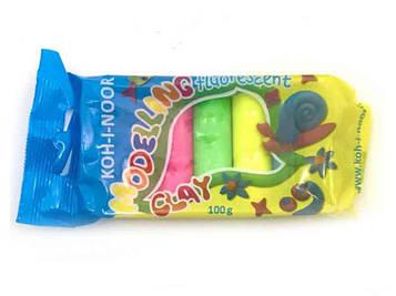 Пластилин Fluorescent 01315S0502PS Koh-I-Noor 5цв 100г