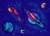 """3Д светящиеся обои """"Космос 2"""""""