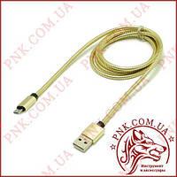 Кабель J-16 USB - Micro usb в металлической оплетке, 1 метр, фото 1