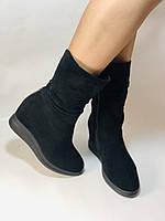 Натуральный мех. Женские зимние ботинки. На платформе. Натуральная замша. Vistally. Р.38, 40., фото 3