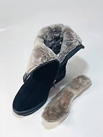 Натуральный мех. Женские зимние ботинки. На платформе. Натуральная замша. Vistally. Р.38, 40., фото 10