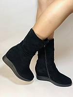 Натуральный мех. Женские зимние ботинки. На платформе. Натуральная замша. Vistally. Р.38, 40., фото 2