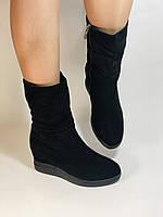 Натуральный мех. Женские зимние ботинки. На платформе. Натуральная замша. Vistally. Р.38, 40., фото 6
