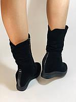 Натуральный мех. Женские зимние ботинки. На платформе. Натуральная замша. Vistally. Р.38, 40., фото 5