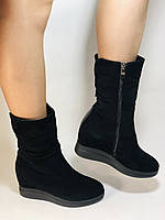 Натуральный мех. Женские зимние ботинки. На платформе. Натуральная замша. Vistally. Р.38, 40., фото 7